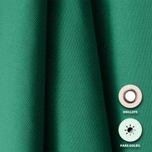 24 VERT - Rideau pare-soleil confectionné professionnelle hébergement foyer blanche 100% Polyester crèche internat foyer école