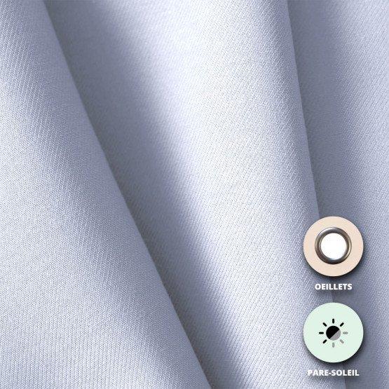 01 BLANC - Rideau pare-soleil confectionné professionnelle hébergement foyer blanche 100% Polyester crèche internat foyer école