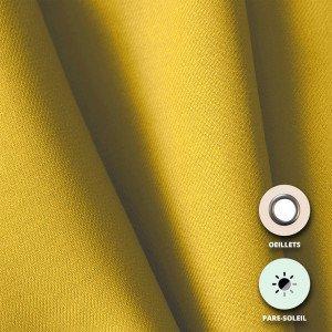 69 AGRUME - Rideau pare-soleil confectionné professionnelle hébergement foyer blanche 100% Polyester foyer internat crèche école