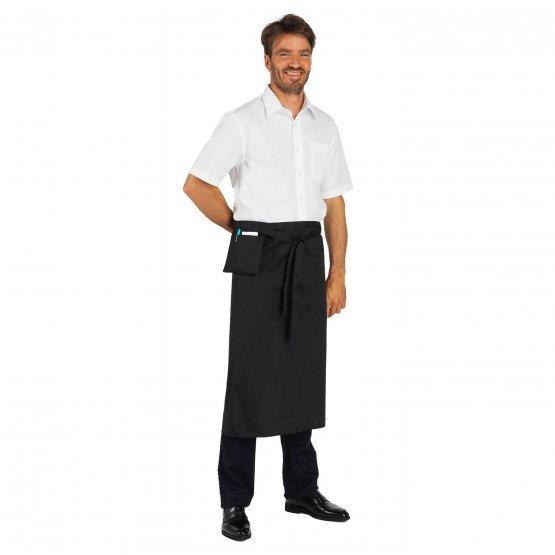 Tablier service cuisine professionnel noir mixte restaurant cuisine restauration serveur - NOIR