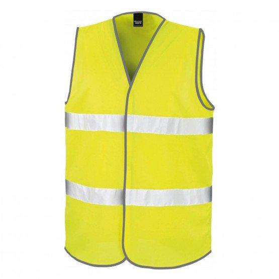 JAUNE - Gilet haute visibilité mixte professionnelle de travail 100% Polyester EN 20471 Vêtements haute visibilité chantier entr