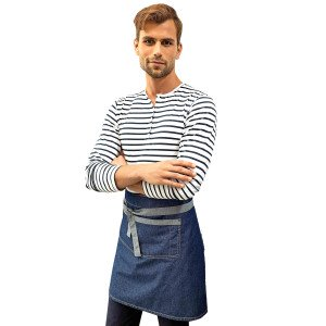 REGENT TABLIER TAILLE MIXTE SERVEUR SERVICE RESTAURANT - BLACK/DENIM