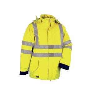 JAUNE/MARINE - Veste Haute visibilité professionnelle de travail homme logistique artisan manutention chantier