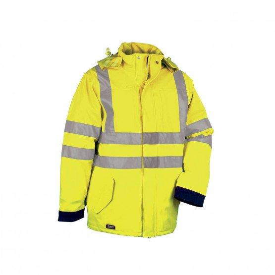 JAUNE/MARINE - Veste Haute visibilité professionnelle de travail homme manutention chantier logistique artisan