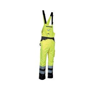 JAUNE - Salopette Haute visibilité professionnelle de travail homme transport artisan manutention chantier