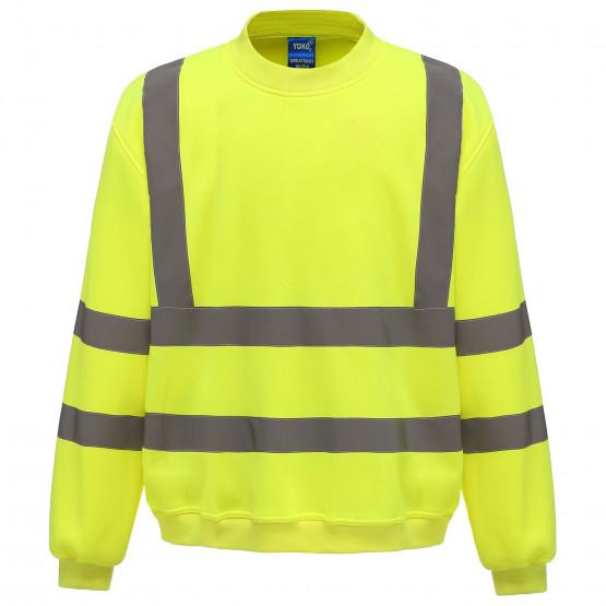 JAUNE - Sweat shirt Haute visibilité professionnelle de travail homme manutention chantier transport artisan