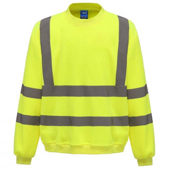 JAUNE - Sweat shirt Haute visibilité professionnelle de travail homme logistique chantier transport artisan