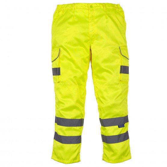 JAUNE - Pantalon haute visibilité professionnelle de travail homme manutention chantier logistique artisan