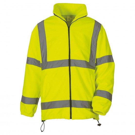 JAUNE - Veste Haute visibilité professionnelle de travail homme logistique artisan manutention chantier