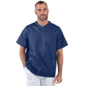 ATOLL - Tunique professionnelle de travail blanche à manches courtes homme - PROMO esthéticienne médical coiffeur infirmier