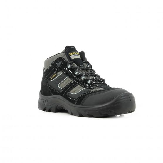 NOIR - Chaussure haute de sécurité S3 professionnelle de travail noire en cuir ISO EN 20345 S3 homme artisan entretien chantier