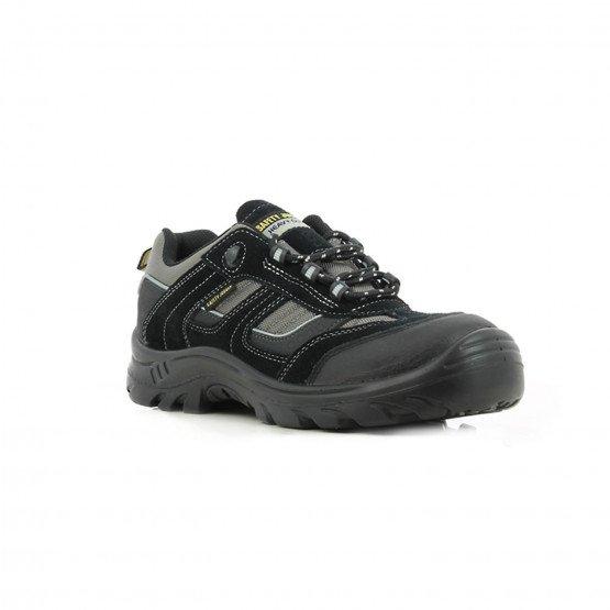 NOIR - Chaussure de sécurité S3 professionnelle de travail noire en cuir ISO EN 20345 S3 mixte entretien artisan menage chantier