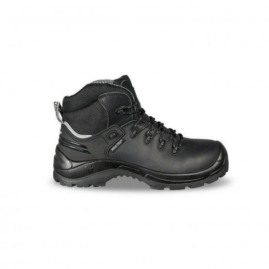 NOIR - Chaussure haute de sécurité S3 professionnelle de travail noire en cuir ISO EN 20345 S3 homme chantier menage artisan ent