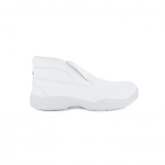 BLANC - Chaussure de cuisine de sécurité S2 professionnelle de travail blanche ISO EN 20345 S2 mixte restauration traiteur étudi