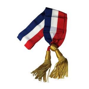ECHARPE DE MAIRE écharpe tricolore mairie écharpe bleu blanc rouge