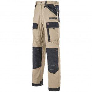 Pantalon de travail homme lafont ruler chantier manutention électricien mécanicien btp - BEIGE/NOIR