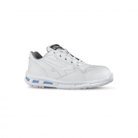 BLANC - Chaussure de sécurité S3 professionnelle de travail blanche ISO EN 20345 S3 mixte serveur restauration cuisine hôtel