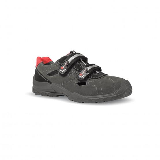 GRIS - Chaussure de sécurité S1P professionnelle de travail en cuir ISO EN 20345 S1P mixte artisan transport internat chantier