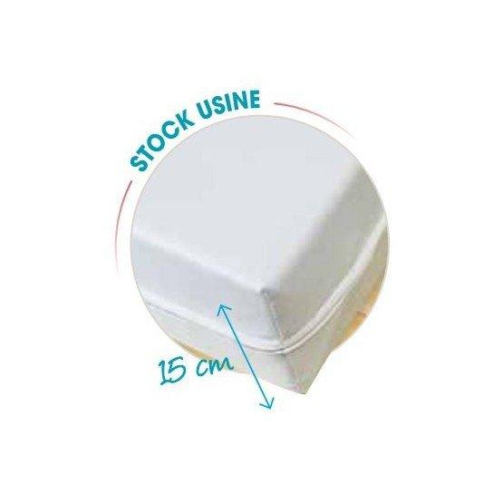 BLANC - Matelas professionnelle hébergement foyer blanche Mousse haute résilience Nerflex, densité 35 kg/m3 ; Housse en maille p