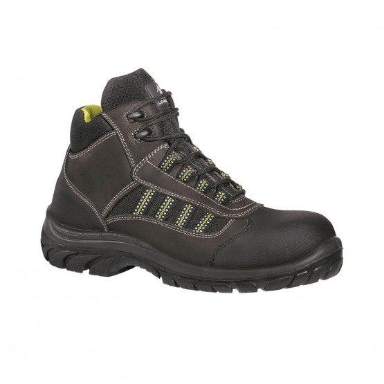 MARRON - Chaussure haute de sécurité S3 professionnelle de travail en cuir ISO EN 20345 S3 mixte artisan entretien chantier mena