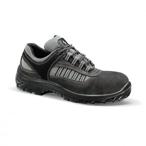 GRIS - Chaussure de sécurité S1P professionnelle de travail en cuir ISO EN 20345 S1P mixte chantier entretien artisan menage