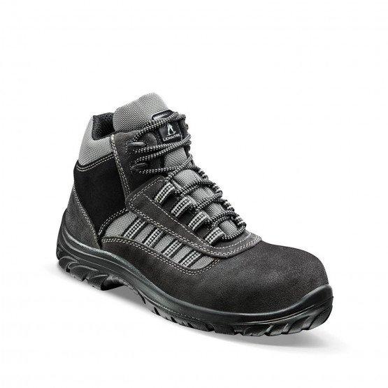GRIS - Chaussure de sécurité S1P professionnelle de travail en cuir ISO EN 20345 S1P mixte artisan menage chantier entretien