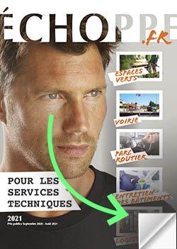 couverture du catalogue Echoppe pour les services techniques 2021