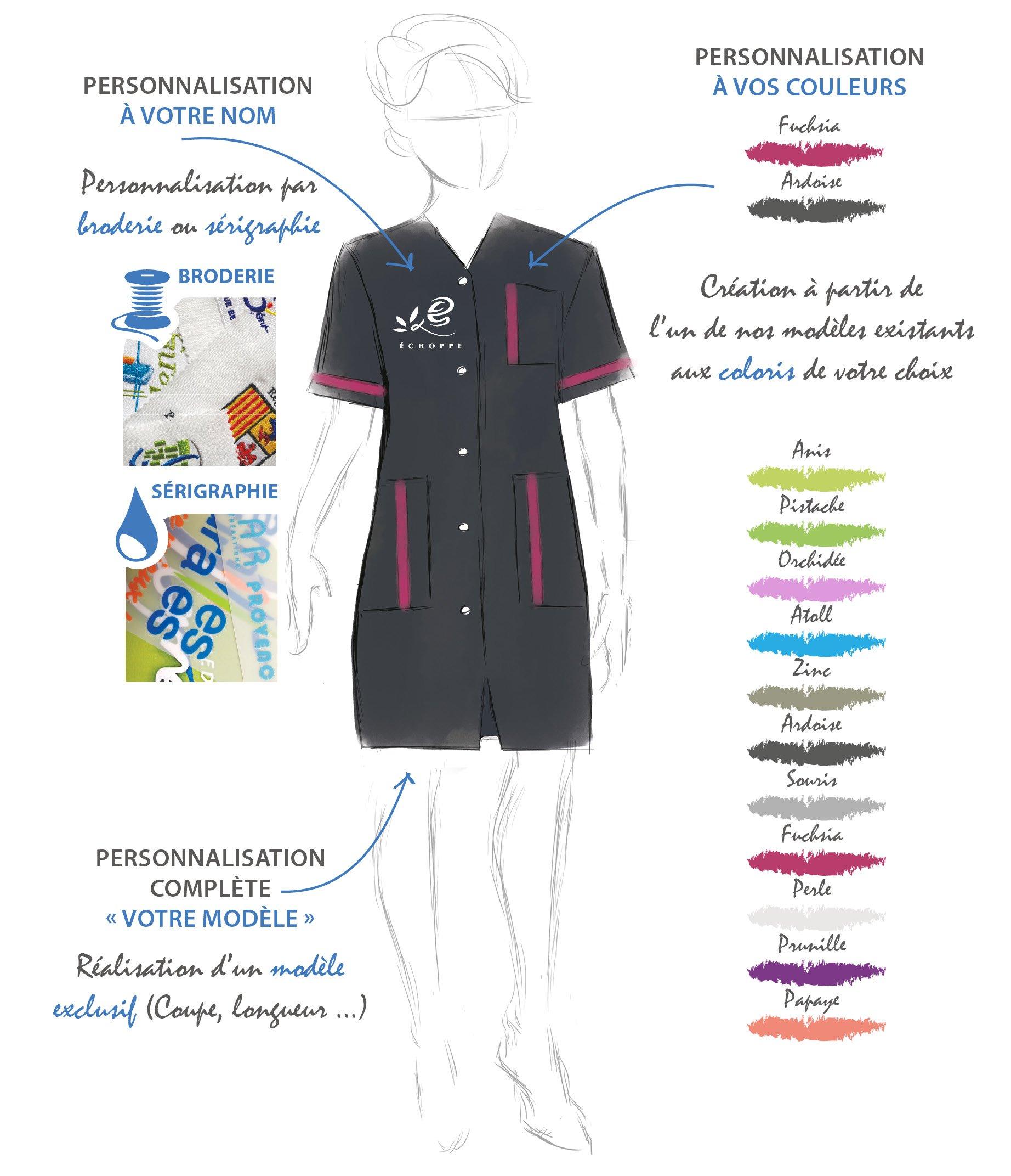 un vêtement à votre image avec la personnalisation à votre nom, la personnalisation à vos couleurs et la personnalisation complète