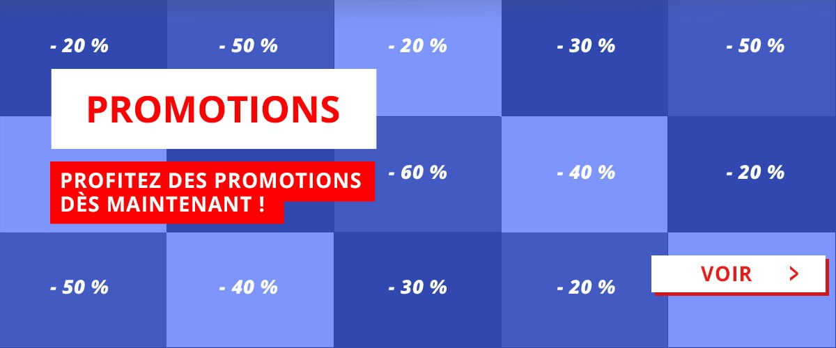 Profitez des promotions jusqu'à -60% !