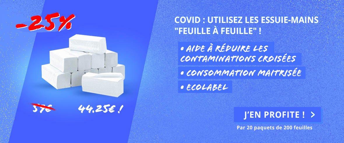 """COVID : Utilisez les essuie-mains """"feuille à feuille"""" !"""